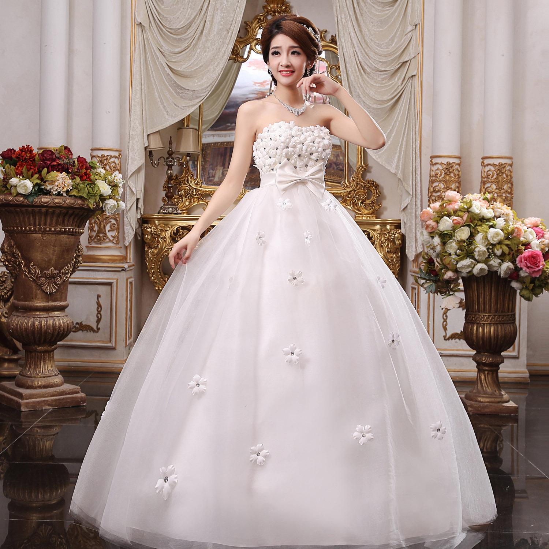 New 2014 Sweet Pregnant Woman Wedding Dress Rhinestone