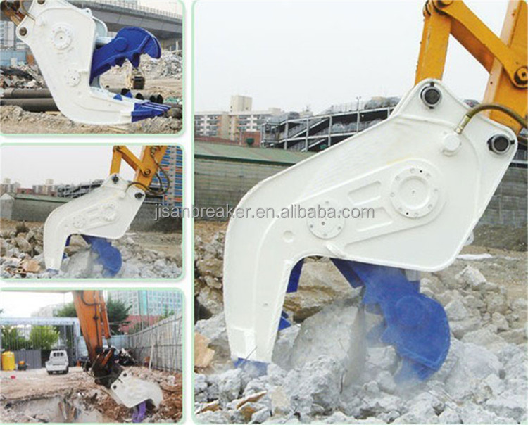 high quality demolition attachment Hydraulic Pulverizer, rock Crusher for 20 ton Excavator