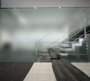 Acid Etched Frosted Tempered Glass Frosted Glass Wall