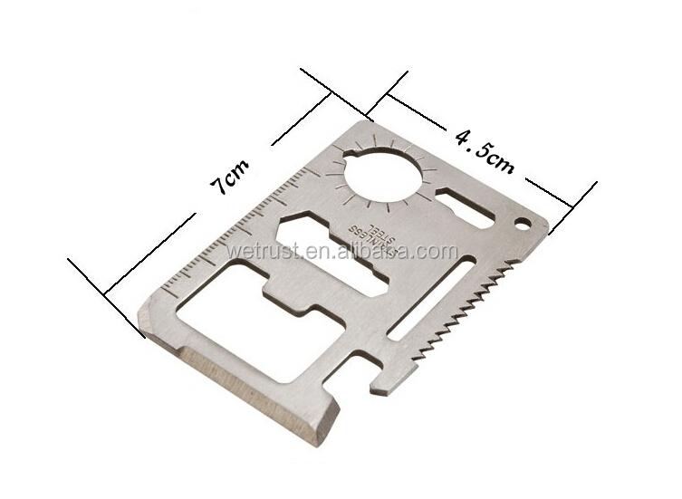11 en 1 mini survie couteau de carte de cr dit. Black Bedroom Furniture Sets. Home Design Ideas