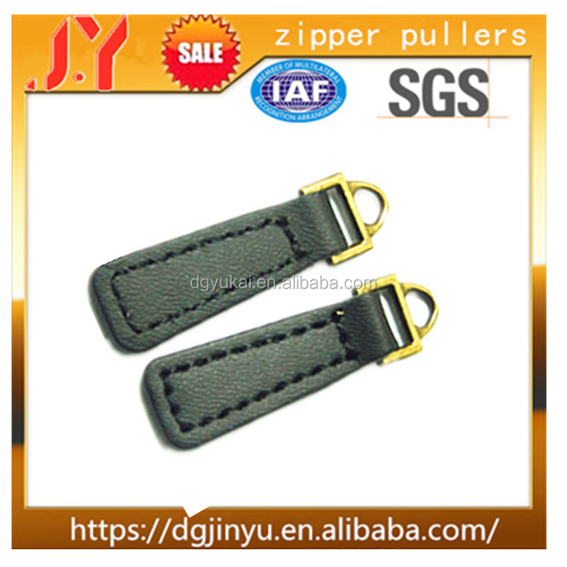 China Supplier Dongguan Hilti Price Fancy Leather / Plastic/ PVC Zipper Puller