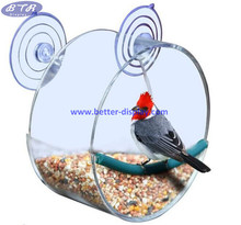 Clear Acryl Huis Circulaire Venster Vogel <span class=keywords><strong>Feeder</strong></span> voor Kleine Wilde <span class=keywords><strong>Vogels</strong></span>