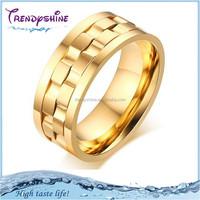 Top quality men's rotating gold titanium turkish puzzle ring