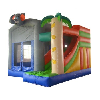 2019  inflatable banana elephant bouncer castle combo with slide for sale
