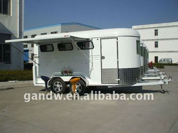 Deluxe Alu Awning Camping Horse Float 3horse Trailer