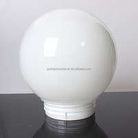 new design wholesale hand blown China opal white round ball antique hurricane glass lamp shade