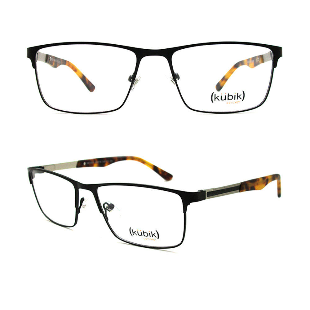 KK1001 Low MOQ Wholesale Latest Model Men Full Rim Metal Glasses Frames Optical Spectacle Glass Frame for Man