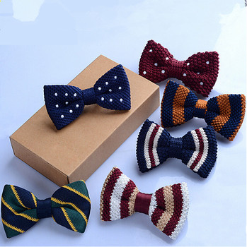 S65281A new style pattern optional baby bow tie children's knitted bow tie