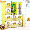 Baby wardrobe closet for bedroom with 4 design MOKYO cartoon door(FH-AL0041-12)