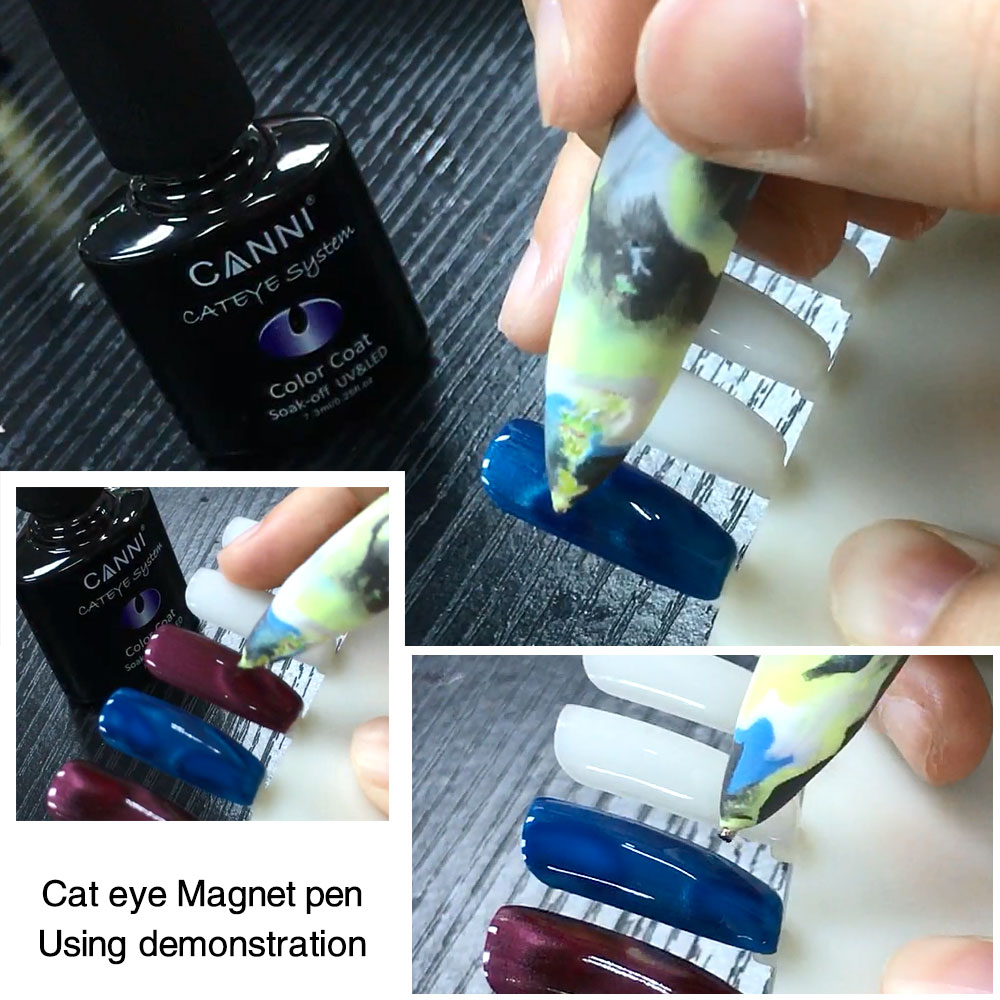 CANNI 7.3ml hot sale 24 colors cat eye gel nail polish magnetic uv ...