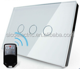 3 gang 1 way Remote Touch Wall Light Switch