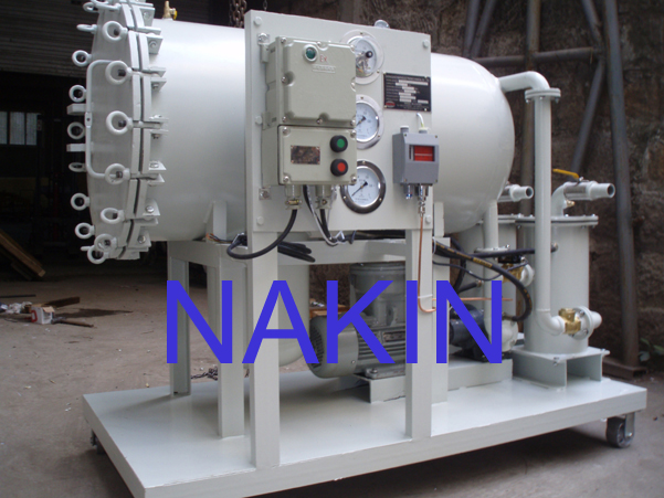 Coalescence oil filter, oil purifier machine