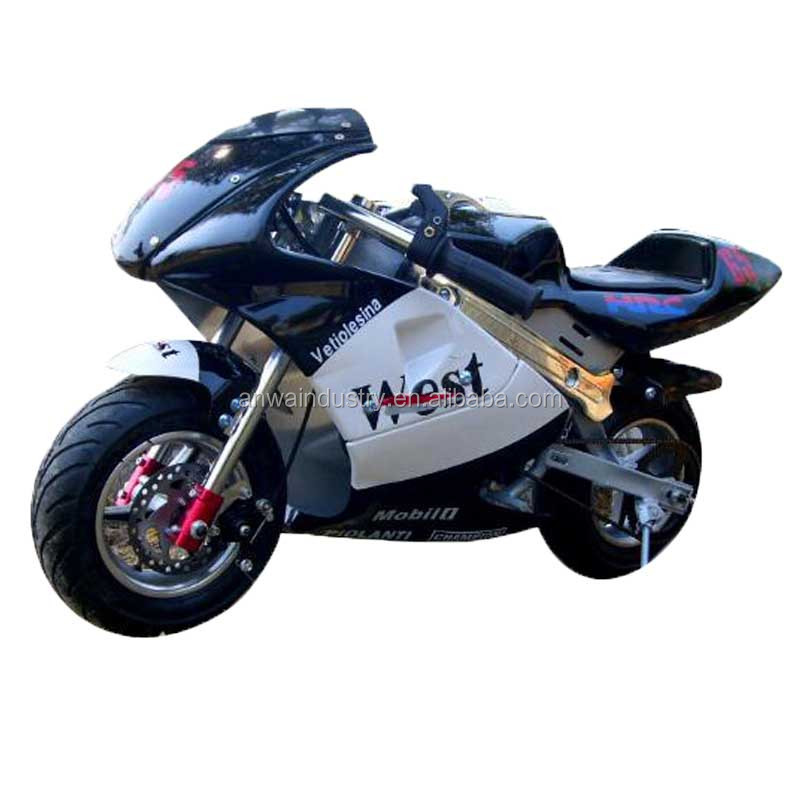 Mini moto China pocket bike PW4901 con frenos de disco delanteros y traseros