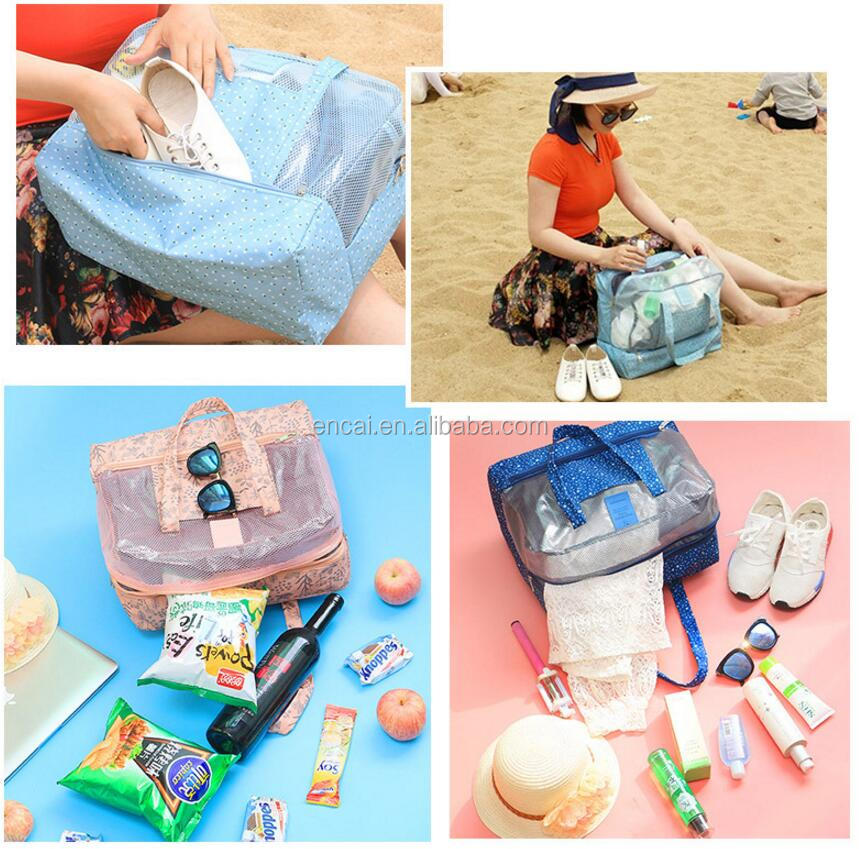 Encai New Design Waterproof Fitness Bag Unisex Beach Bag Stylish Swim Shoulder Bag With Shoe Pocket
