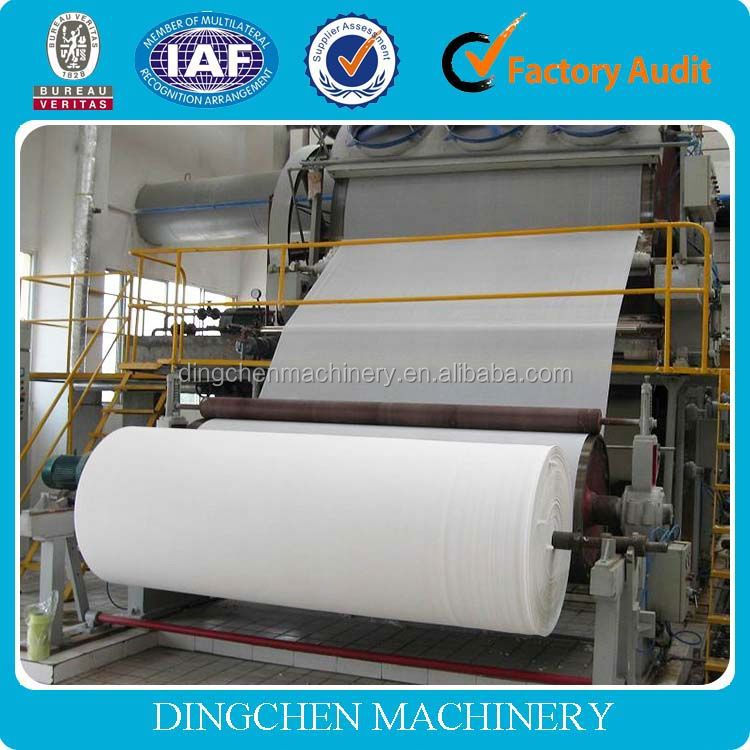 2014 High quality Zhengzhou Dingchen industrial tissue paper making machines,industrial roll toilet paper