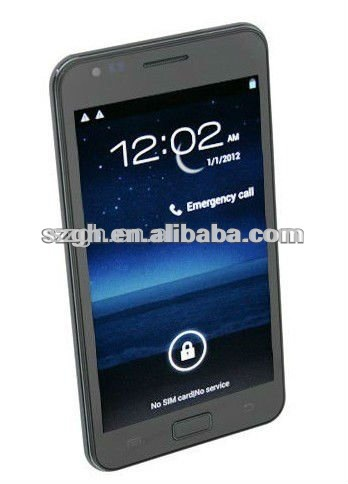 3 G Android 5.25 inch screen MTK6573 dual sim mobile phone I9220
