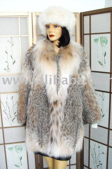 Brand New 100% Genuine Lynx Fur Coat For Women or Men
