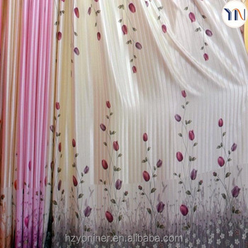 Home Ideal Design Curtain Beautiful Floral Printed Curtains For Upholstery  Decoration Ready Made Curtain China Supplier