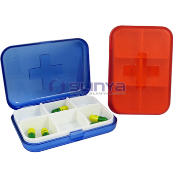 Rectangle Mini Cubicle Pill Boxes And Small Plastic Pill Containers