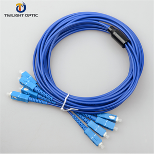 SC-SC Single mode 4F 20 meters PATCH LEAD Armoured patch cord