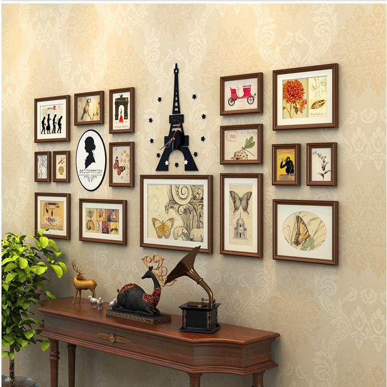 16 Stücke Hohe Qualität Handgefertigten Holz Bilderrahmen Wand - Buy ...