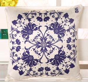 100% polyester digital printed faux silk cushion