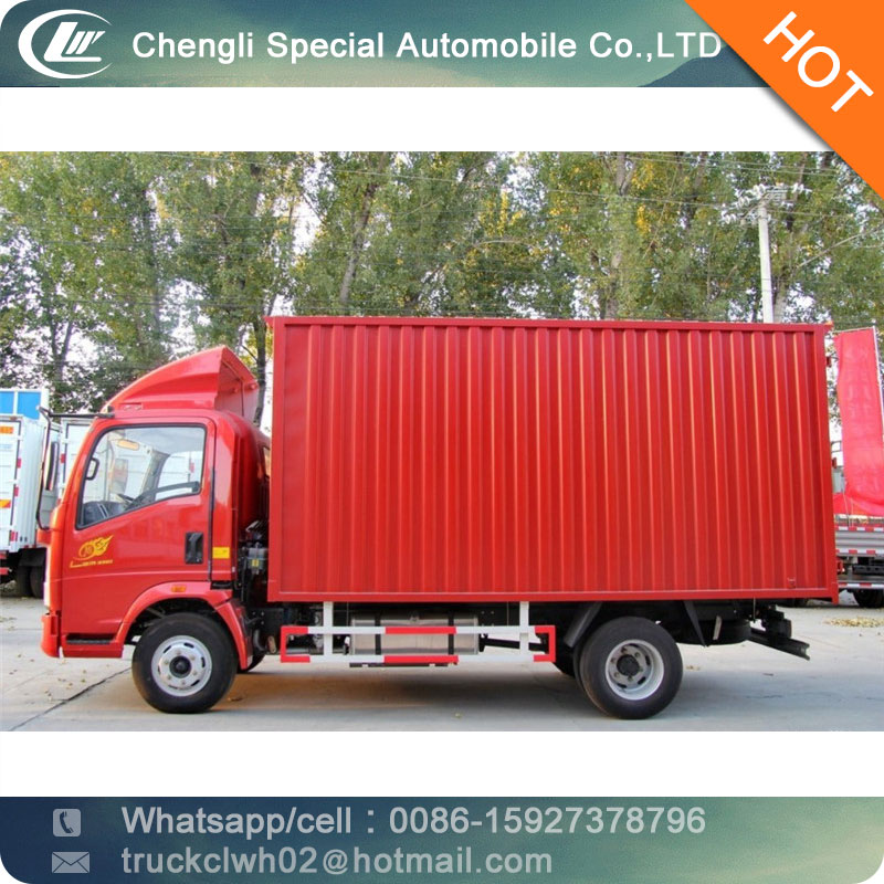 CLW iron corrugated box body 5t light dry box <strong>truck</strong>