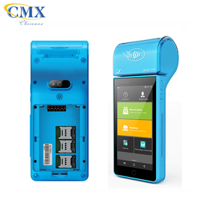 CMX-T1 PCI EMV Paypass android 4G NFC mobile pos terminal with printer