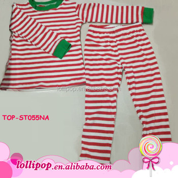 Cotton Pajamas Outfit Western Girls Top binding Stripe Pants Set Cute Baby Boy  Unisex Christmas Pajamas Family - Buy 100 Cotton Boys Pajamas b556a1a9c
