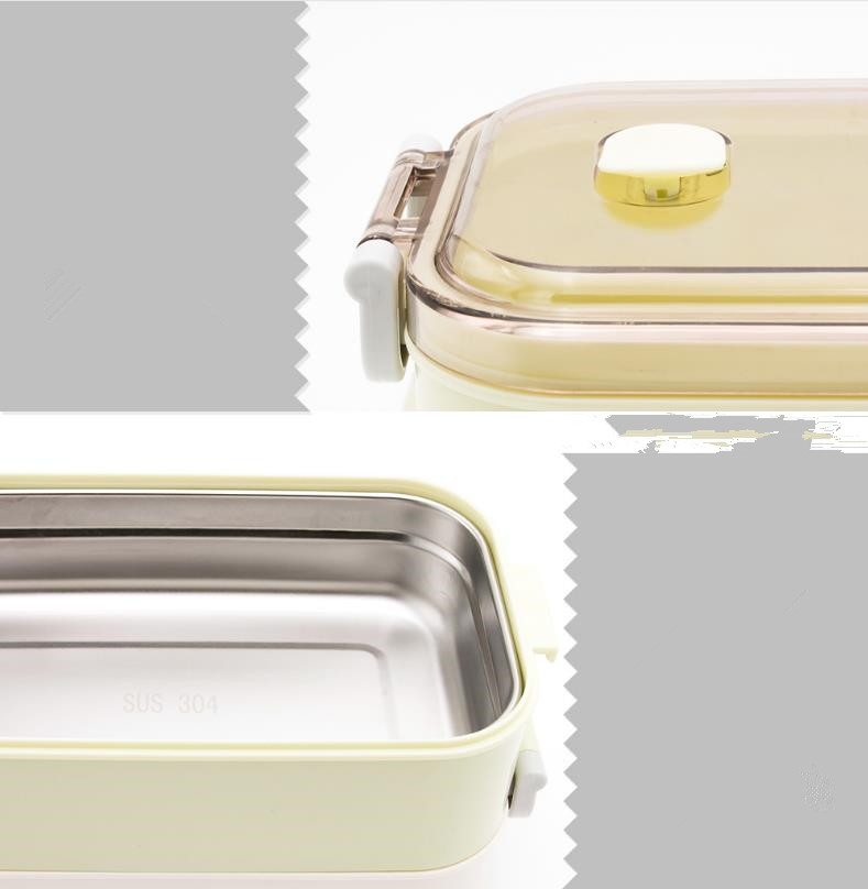 heat resistant bento lunch box plastic food container storage with handle for kids