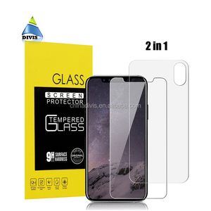 9H hardness 2.5D edge combo front and back glass film dual tempered glass screen protector for iPhone X