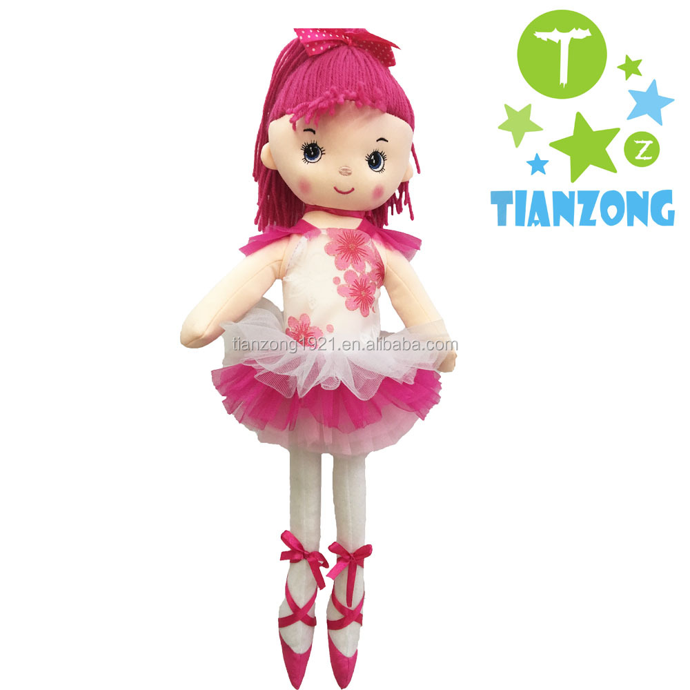 wholesale cute ballet dancing girl sthffed plush rag dolls
