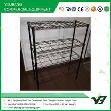 2015 hot sell NSF 100KGS heavy duty 4 tier home use black epoxy wine shelving (YB-WS021)