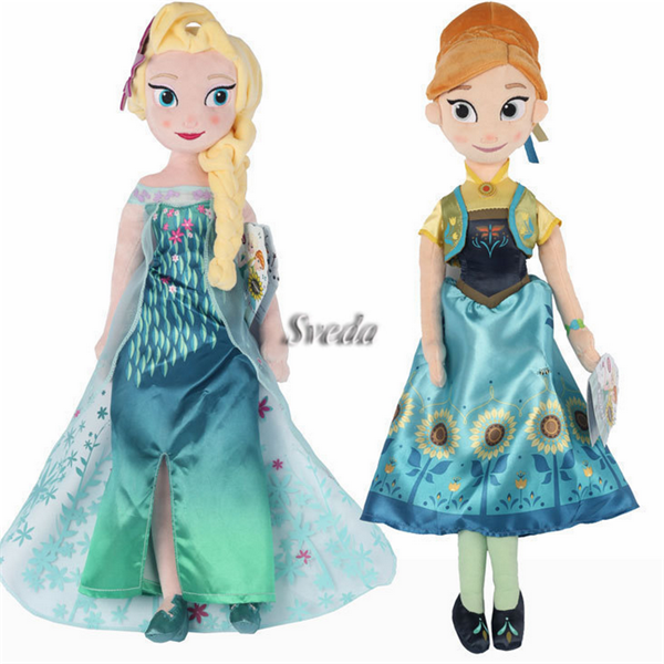 Hard-Working Disney Princess 50 Cm Anna Frozen Plush Cuddly Toy Girls New No Tags Elsa Film C Dolls, Clothing & Accessories