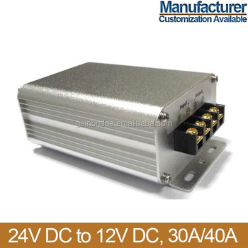 24V DC to 12V DC converter power regulator, 30A/40A, Manufacturer, Customization available