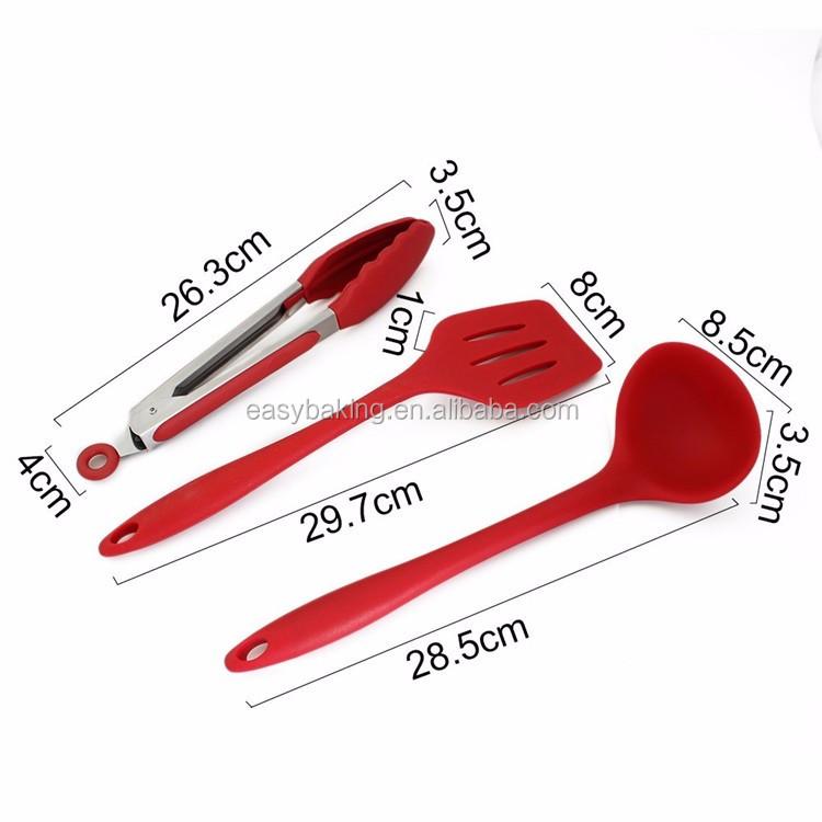 Silicone Kitchen Utensils, 10 Piece Cooking Utensil Set Spatula, Spoon,.jpg