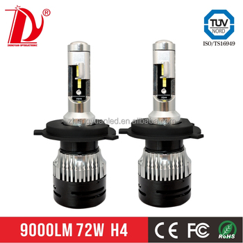 72W 6000lm h4 led headlight 100w new model V5 led headlight bulb top quality great price d2s led headlights