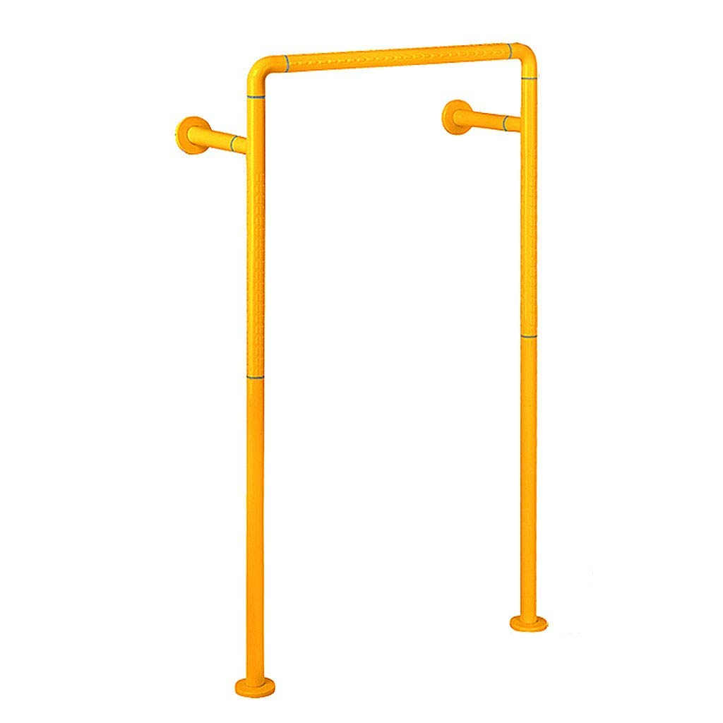 Stainless steel handrail bathroom handrail safety handrail anti-corrosion anti-slip luminous handrail for the elderly barrier-free high load-bearing toilet railing ( Color : Yellow , Size : 60120cm )