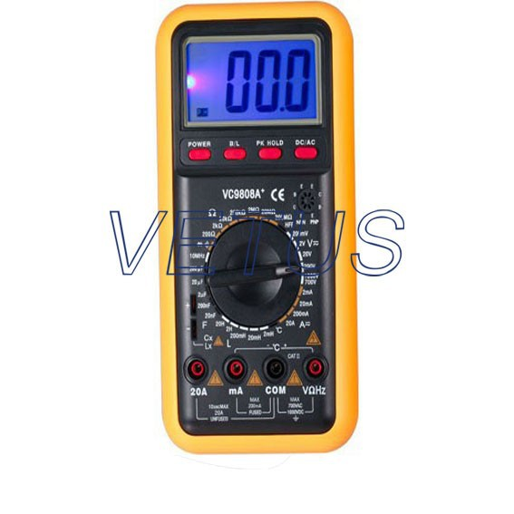 VC9808A+ digital multimeter Capacitor table Inductance meter