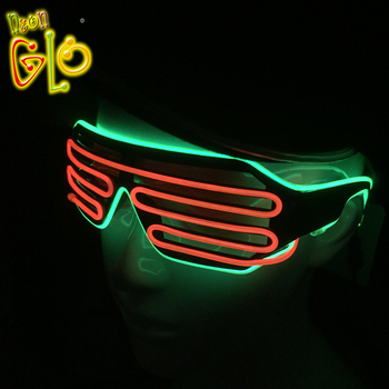 Neon Party Supplies Sound Activated Led Light Up Glasses