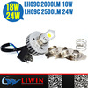 LW New items COB head lamp 24W 18 W led moto lights DC led light for auto