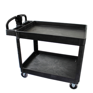 Industrial heavy duty hand trolley plastic service utility cart
