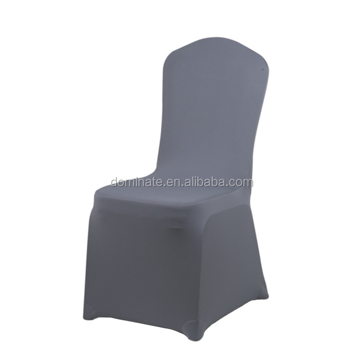 Durable Blue Polyester Jacquard Damask Wedding Chair Cover