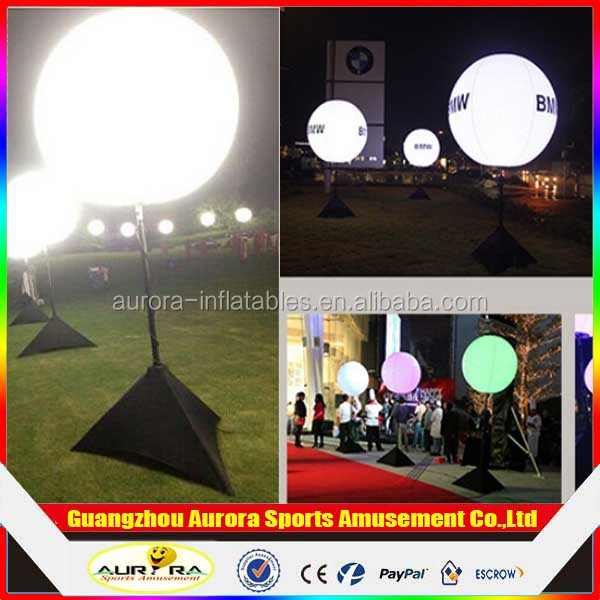 Customized inflatable led balloon/inflatable stand light balloon with factory lower price