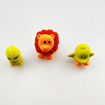 small 3d animals eraser, assembled eraser for children