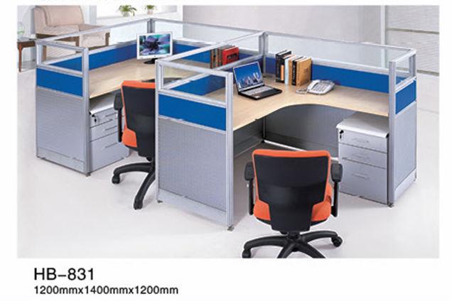 Office Furniture Computer Desk For 2 Person Workstation
