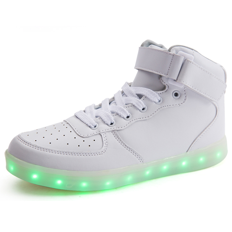 8 Colour NEW Led shoes Women Men Glowing Sneakers Luminous shoe USB Charging Lights Light up Led shoes for adults Sneakers Yeezy