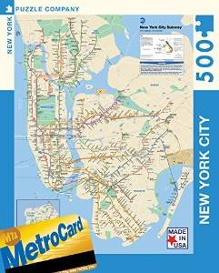 New York Puzzle Company - New York City Transit MTA Subway Map - 500 Piece Jigsaw Puzzle by New York Puzzle Company