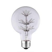 Home decor G80 vintage style dimmable 3W led edison light bulbs