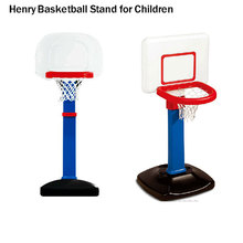 ABS safe material movable children basketball stand